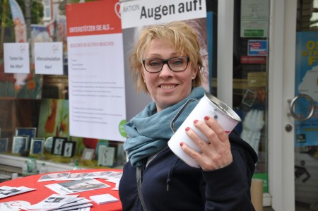 Andrea Bongers, Botschafterin des Projektes, schaute auch vorbei.