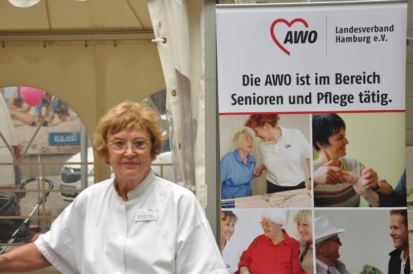 Die AWO hat im Pflegebereich viel zu bieten. Hier eine Botschafterin der Aktion, Inge Schlüter.