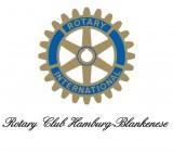 """Rotary-Rad mit Schriftzug """"Rotary Club Hamburg-Blankenese"""""""