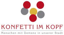 """Logo """"Konfetti im Kopf – Menschen mit Demenz in unserer Stadt"""""""